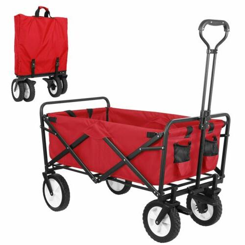 Heavy Duty Folding Wagon Utility Outdoor Camping Garden