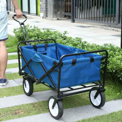 heavy duty folding wagon collapsible garden beach