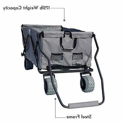 Impact Canopy Folding Utility Wagon, Grey