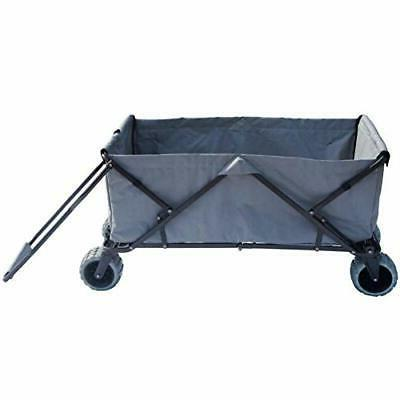 Impact Canopy Folding Collapsible Utility Wagon, Extra-Large Extra-Large Grey