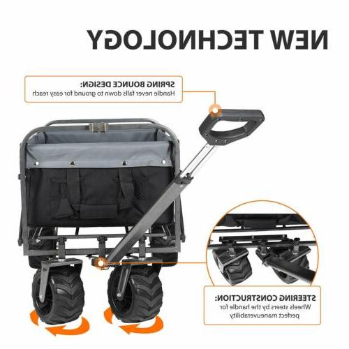 Collapsible Folding Heavy Duty Wagon Cart Beach Garden Campi