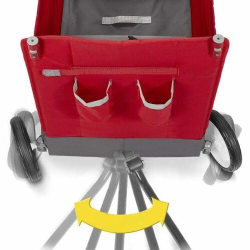 Radio Flyer Cargo Canopy, Wagon 2 Versatile Seats, Red