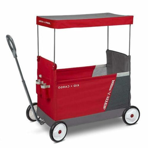 kid and cargo with canopy folding wagon