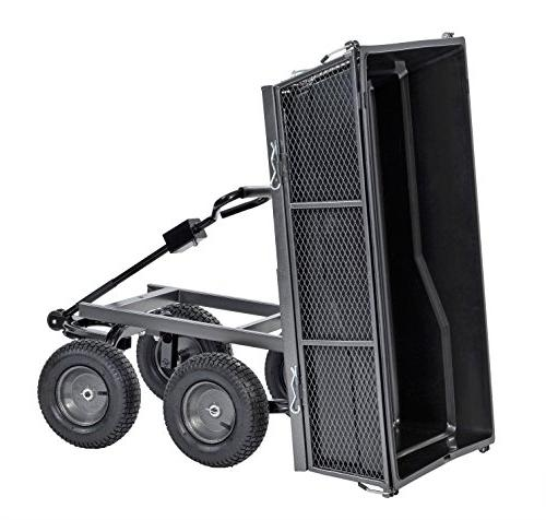 "Sandusky Lee CW5024 Carts Steel Cart with and Full with A Capacity 1200 lb, Silver 26.5"" 48"" Length, Load Capacity"