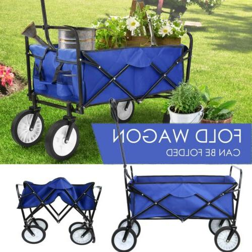 new collapsible wagon beach folding camping trolley