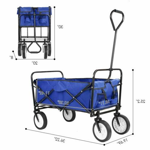 Collapsible Utility Wagon Garden Cart Beach Camping Storage