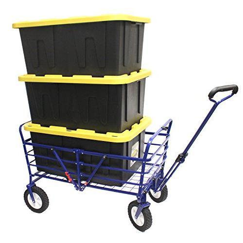 WonderFold Outdoor 2-in-1 Wagon Field Utility Cart Polyester Basket
