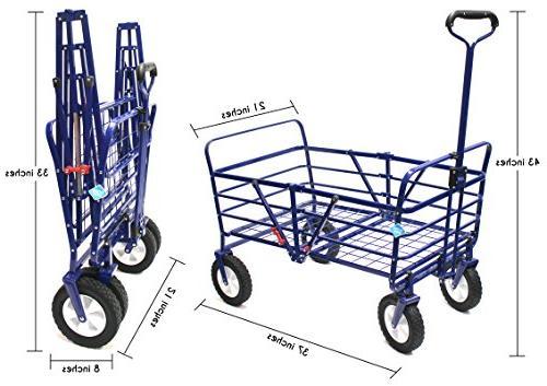 WonderFold Next 2-in-1 Wagon Work Garden Utility Polyester Basket