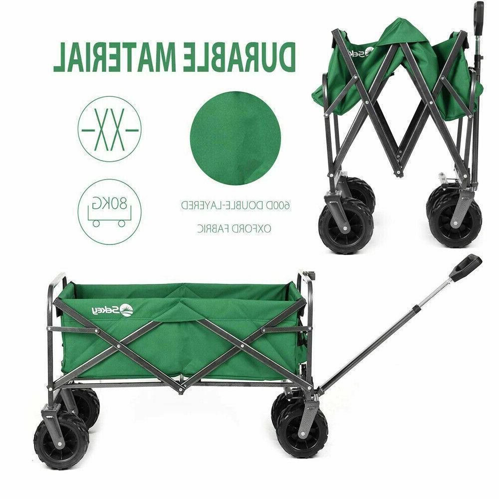 outdoor collapsible folding wagon cart garden beach