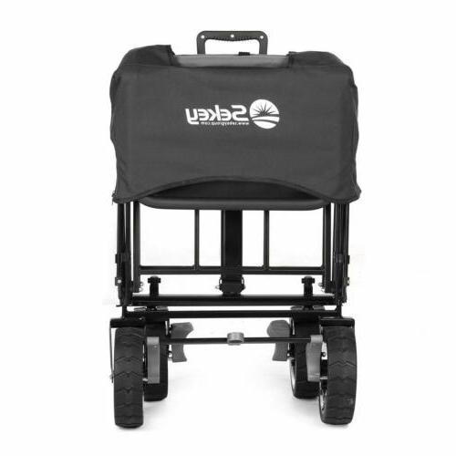 Folding Utility Garden Steel Cart Wheels