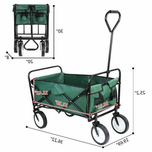 Collapsible Utility Wagon Cart Garden