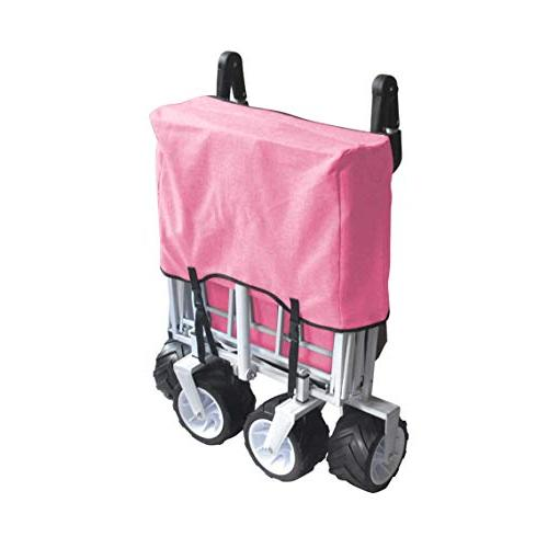 PINK PUSH AND WAGON PURPOSE UTILITY BEACH SHOPPING CART OUTDOOR SPORT COLLAPSIBLE WITH COVER ICE COOLER EASY SETUP NO NECESSARY