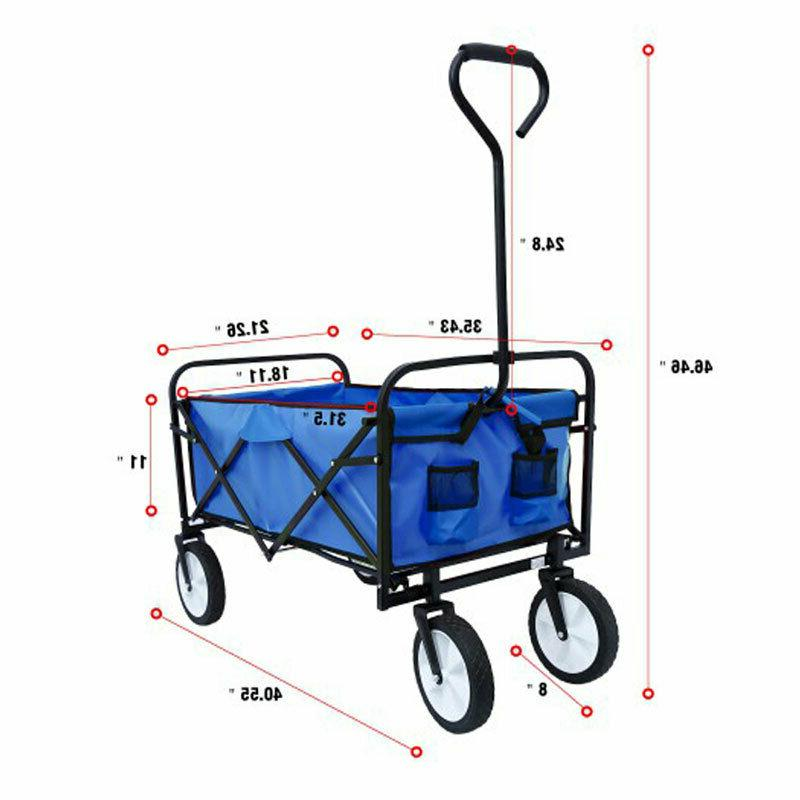 Collapsible Outdoor Wagon Camp Beach Heavy Duty