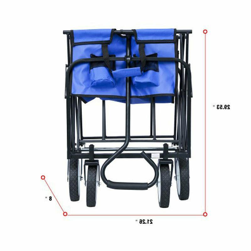 Collapsible Folding Cart Wagon Sport Garden Beach Cart