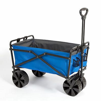 powder coated steel garden cart beach wagon