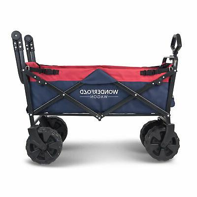 WonderFold Pull Collapsible Folding Wagon with All-Terrain