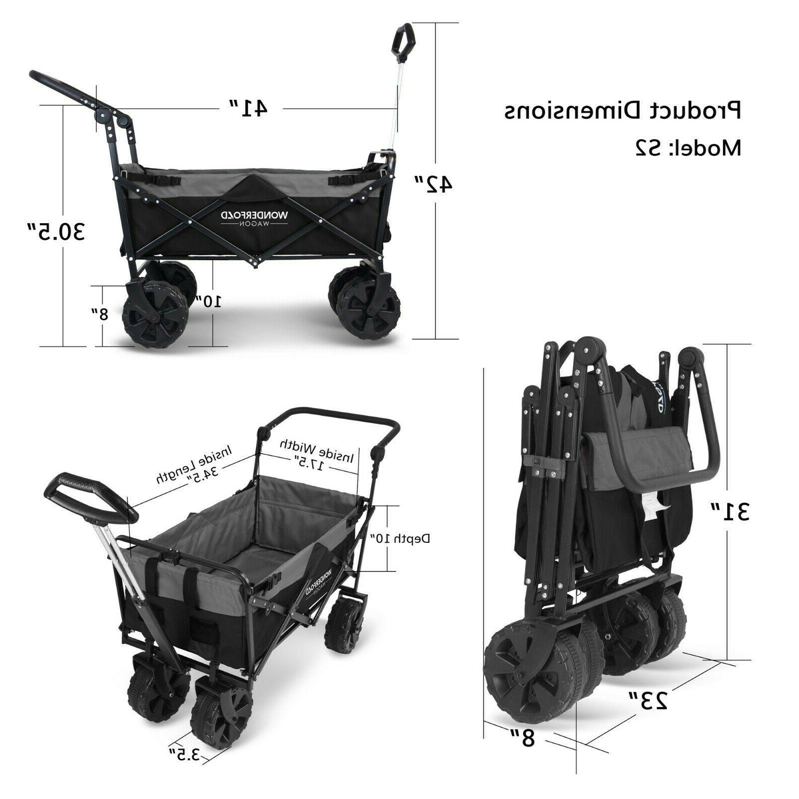 Pull Collapsible Utility Folding All Terrain Wide Beach