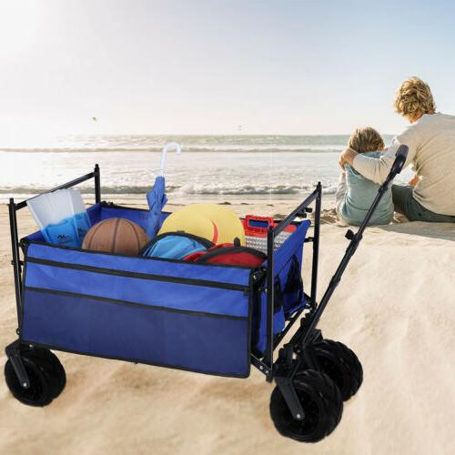 Pull Heavy All Tire Collapsible Folding Wagon Cart