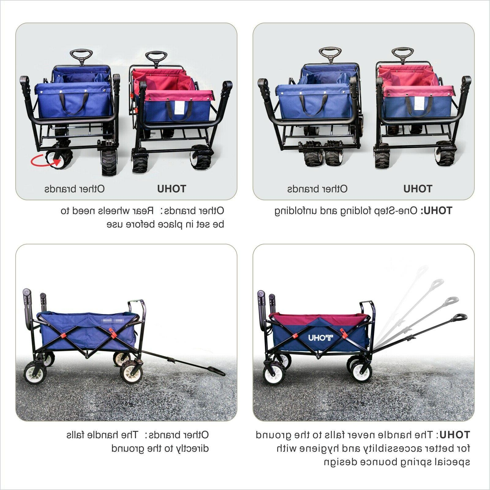 Pull All Terrain Collapsible Folding Beach Cart