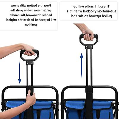 Tintonlife Push and Collapsible Utility Wagon, Duty Wagon