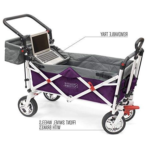 Creative Outdoor Collapsible Folding Wagon Cart for Silver Series | Park Garden |