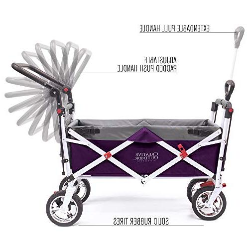 Creative Push Collapsible Wagon Cart for Kids | Silver Series | Park Garden & |