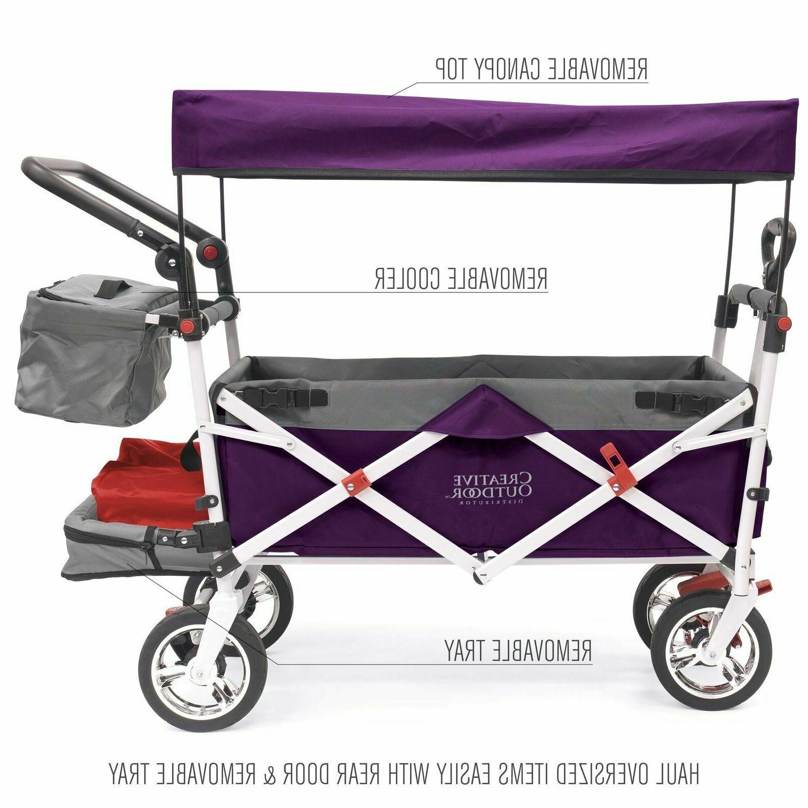 push pull collapsible folding wagon