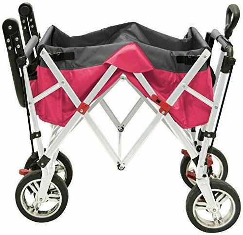 Creative Push Pull Folding Wagon Pink