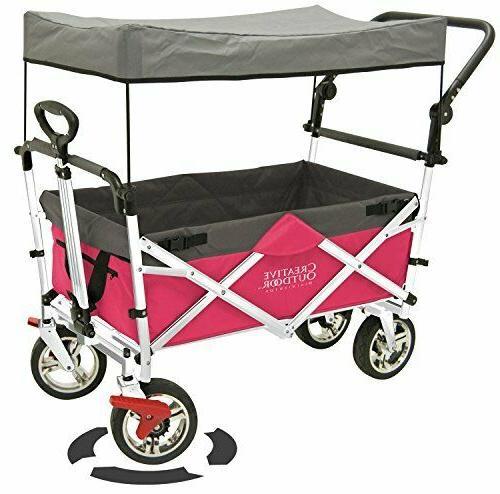push pull folding wagon pink