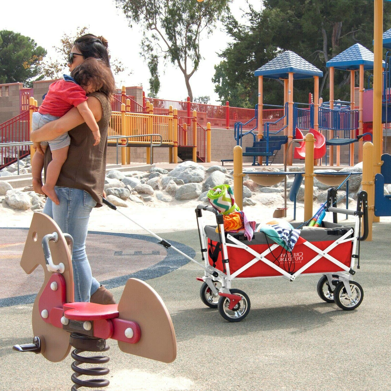 Creative Outdoor Folding Wagon RED
