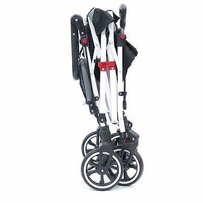 Push TITANIUM SERIES Folding Stroller Canopy Black