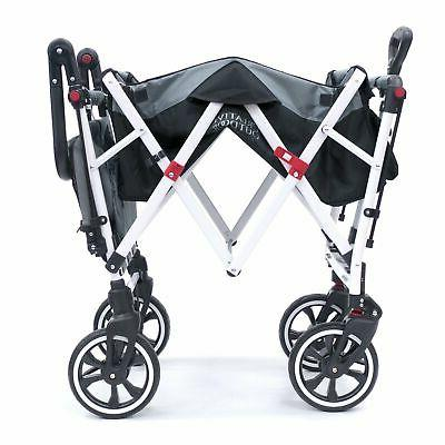 Push Pull Folding Wagon Canopy | Black