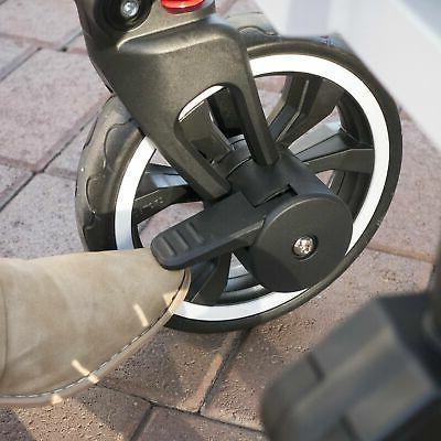 Push Folding Stroller Canopy Black