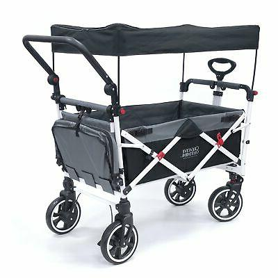 Push SERIES Folding Wagon Canopy | Black