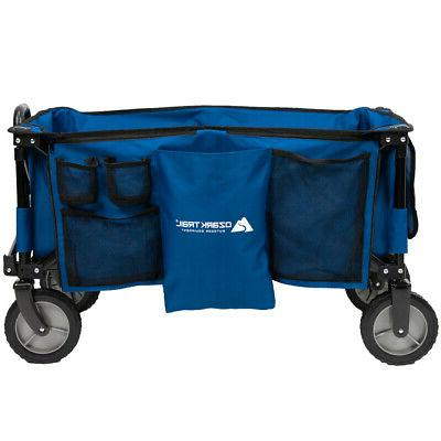 Quad Folding Wagon Telescoping Included Portable NEW