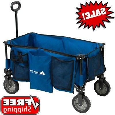 quad folding wagon telescoping handle carry bag