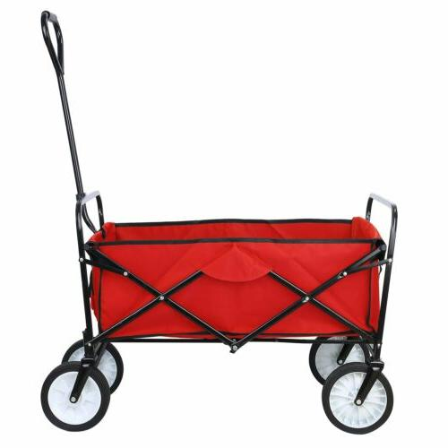 Collapsible Wagon Garden Folding Trolley Cart