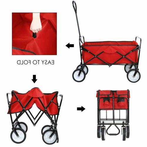 Wagon Kid Beach Collapsible Folding Garden Cart