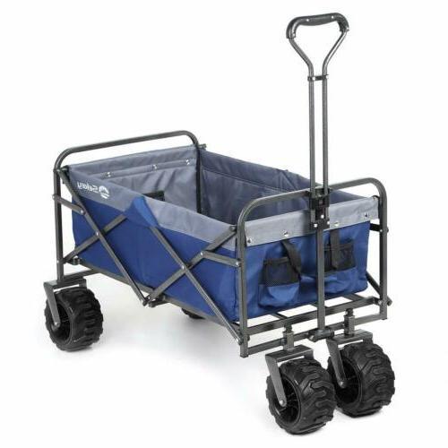 Folding Wagon Beach Utility Push Heavy Duty
