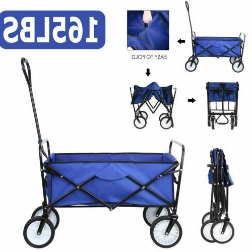sports collapsible folding wagon shopping cart utility