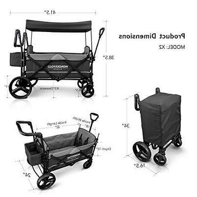 Stroller Wagon 2 Baby Toddler Kids Gray Push Pull New