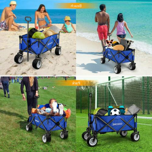 Wagon Collapsible Folding Camping Outdoor Trolley Beach Utility US