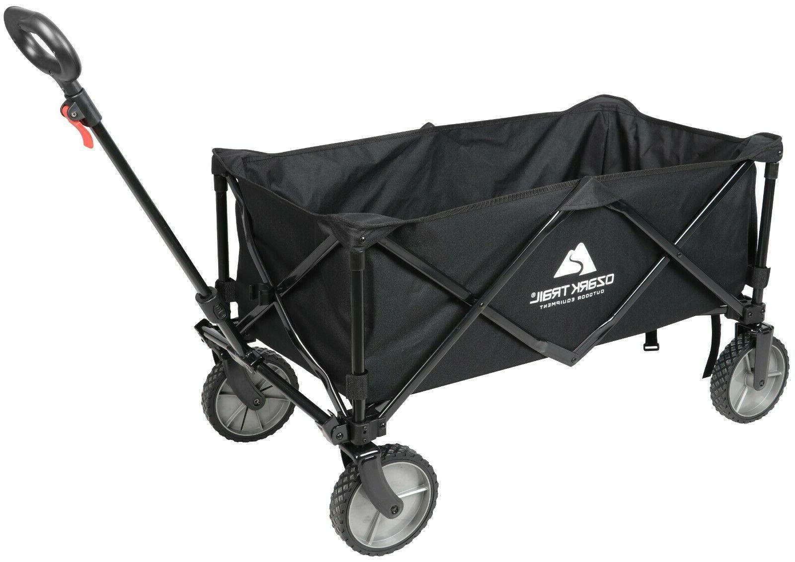 Wagon Folding Cart Collapsible Garden Beach Utility Outdoor