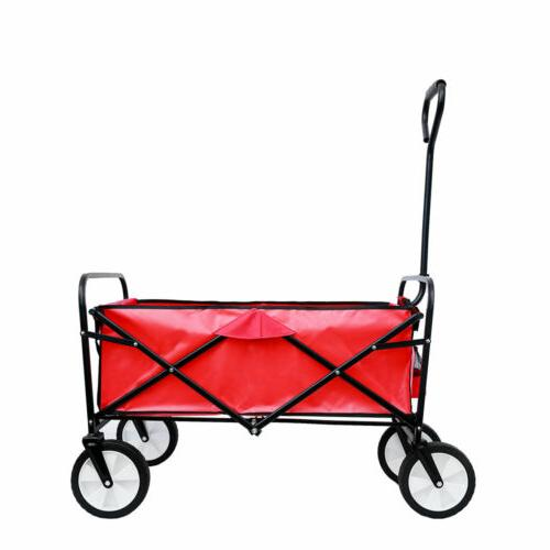 Deluxe Folding Cart Portable Large Wagon US