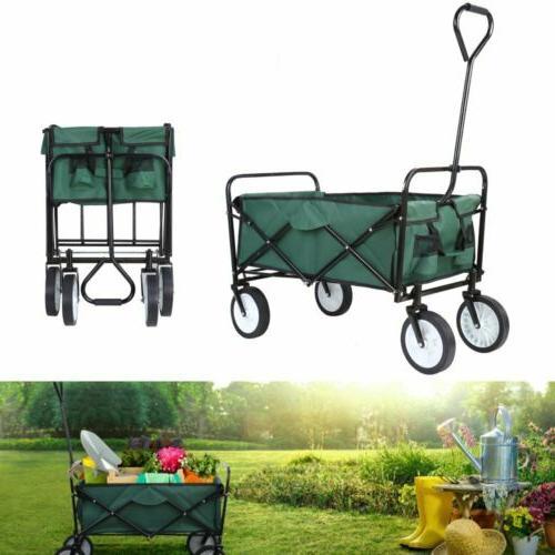 Portable Collapsible Wagon,Sturdy Outdoor Folding Garden Spo