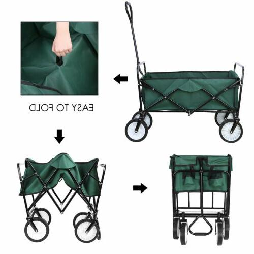 Collapsible Wagon Beach Camping Utility Green