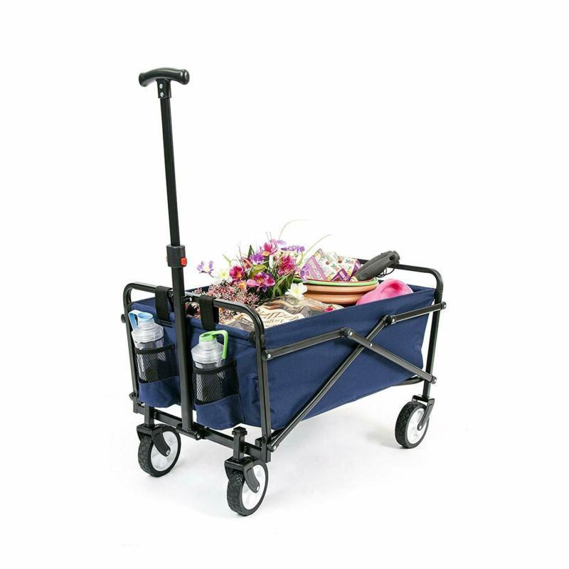 collapsible beach cart folding wagon utility shopping