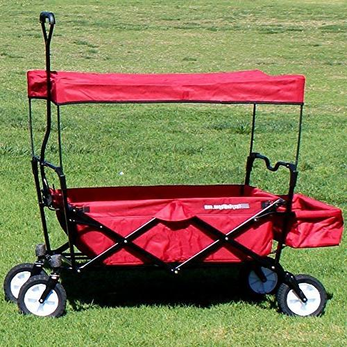 EasyGoProducts Wagon Red Collapsible Utility, Fits Trunk Standard Car