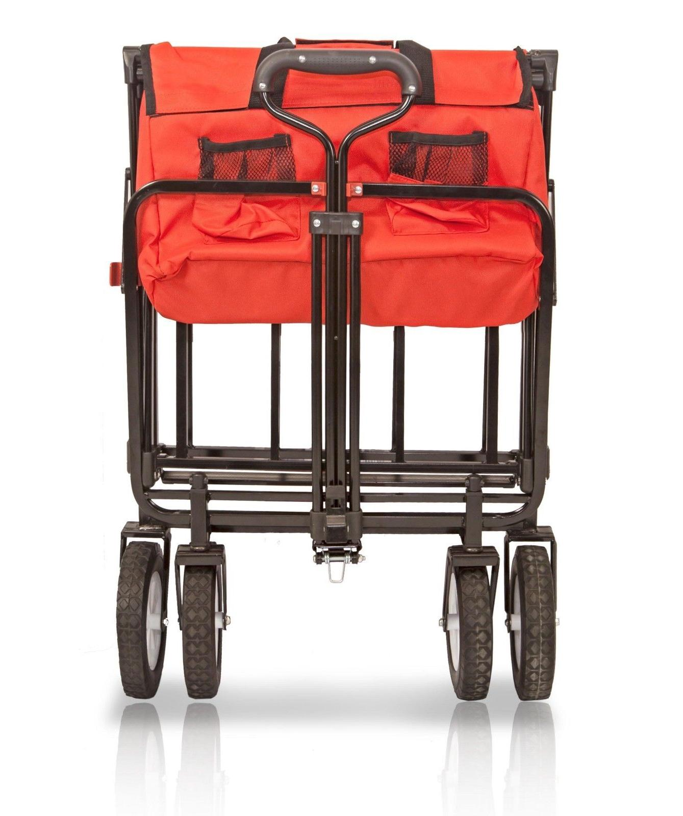 WonderFold New Folding Collapsible Utility Cart