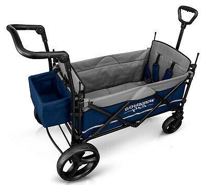 Wonderfold Wagon Push Pull Stroller Navy NEW